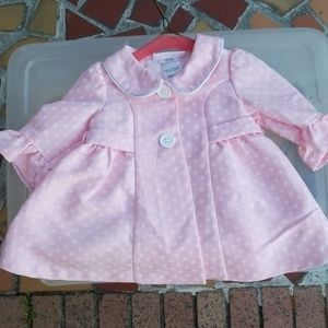 Baby 2 Button Pea Coat with Ruffled Sleeves